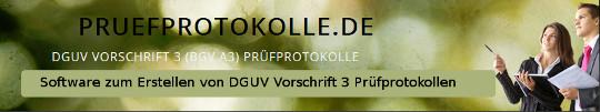 Prüfprotokolle DGUV Vorschrift 3